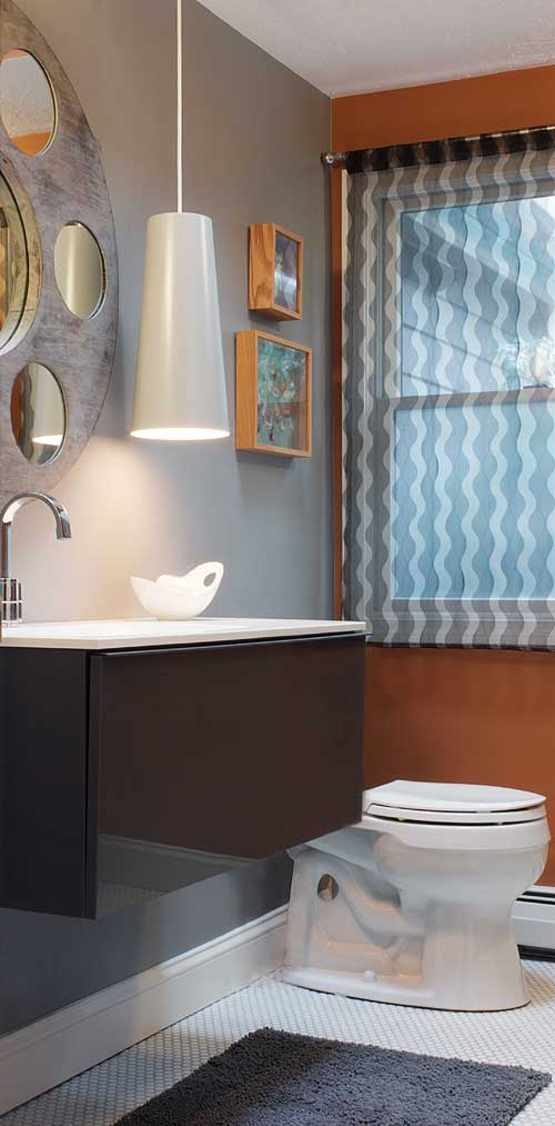 Bathroom designed by Lestage interior Design